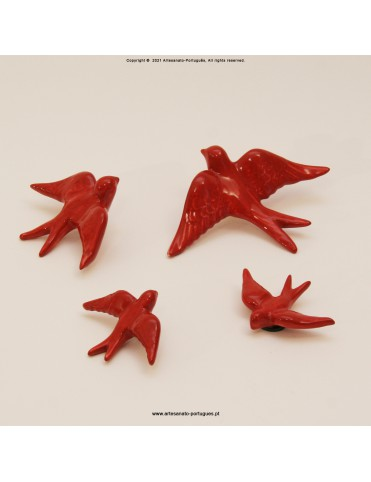 Red Color Swallows (Pack 4)